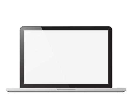 laptop isolated vector illustration