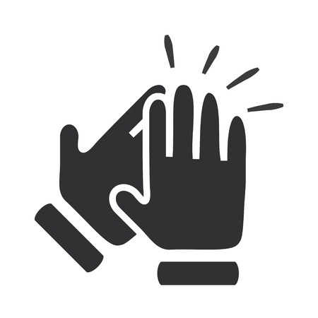 old hand: Hands clapping symbol. Vector icons