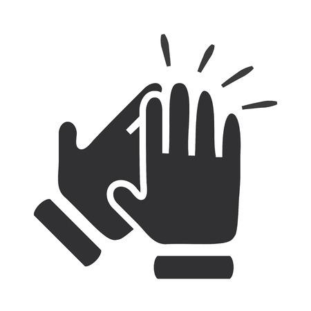 manos aplaudiendo: Las manos aplaudiendo símbolo. Iconos del vector Vectores