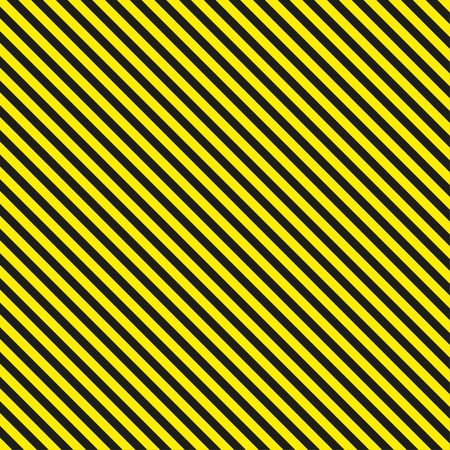 barrier tape: Seamless diagonal background caution pattern - vector illustration Illustration