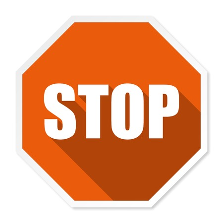 sign in: Stop sign in a flat vector illustration Illustration