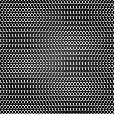 Grid gray metal, black background Ilustração