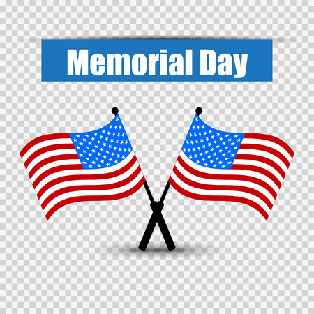 memorial day: Flag of America to memorial day vector illustration