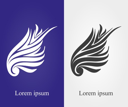 abstract wing: Wing  vector illustration of stylish type 2