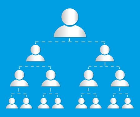 Organisational chart infographic marketing vector Vettoriali