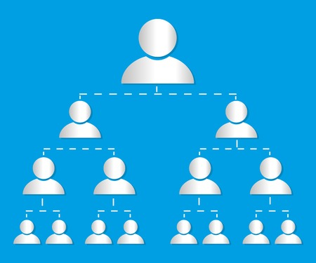 organisational: Organisational chart infographic marketing vector Illustration
