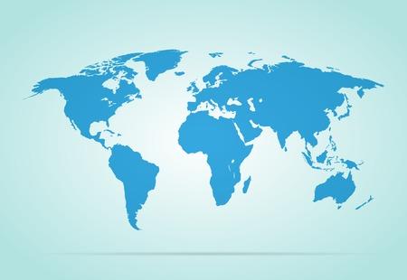 World map vector illustration on gray background stylish Illustration