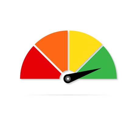 Icon or sign with arrow,Colorful gauge vector illustration