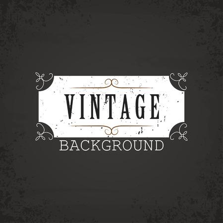 vintage ornament: Vintage background white, ornament vector illustration