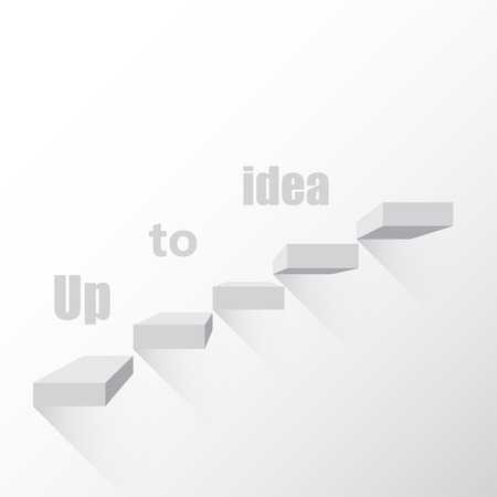 go up: Background the idea of steps to go up vector