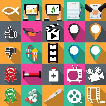 Technology icons vector illustration in flat Vector