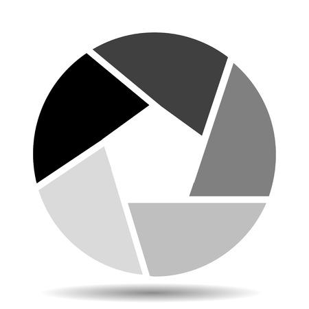 shutter: Camera shutter icon vector illustration Illustration