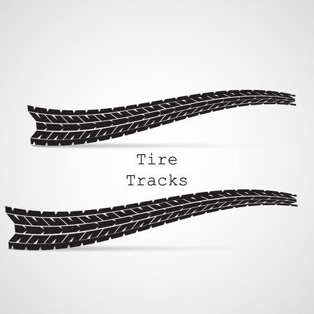 huellas de llantas: Pistas del neumático ilustración vectorial Vectores