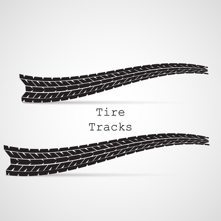 Tire tracks vector illustration