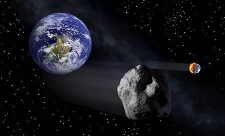 火のベクトル図と宇宙から地球のビュー  イラスト・ベクター素材