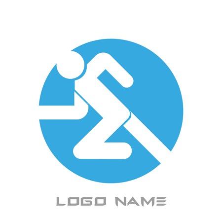 black man: Running Man Icon logo vector name