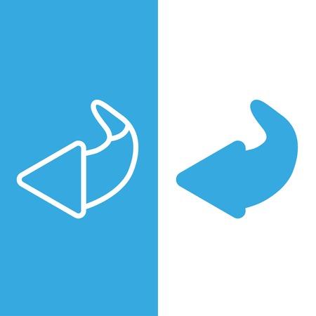 again: Turn icon, arrow, restart vector illustration