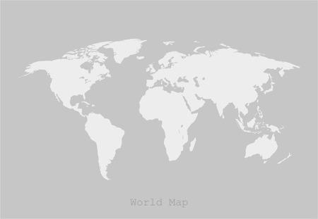 Mondo Paesi mappa illustrazione vettoriale Vettoriali
