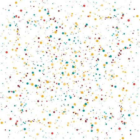 horizontally: Confetti Horizontally seamless vector illustration