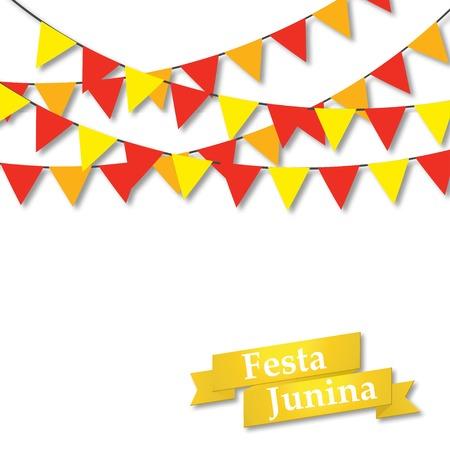 midsummer: Festa Junina illustration, Midsummer holiday Vector illustration Illustration