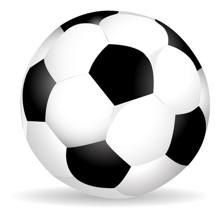 soccer equipment: soccer ball with shadow