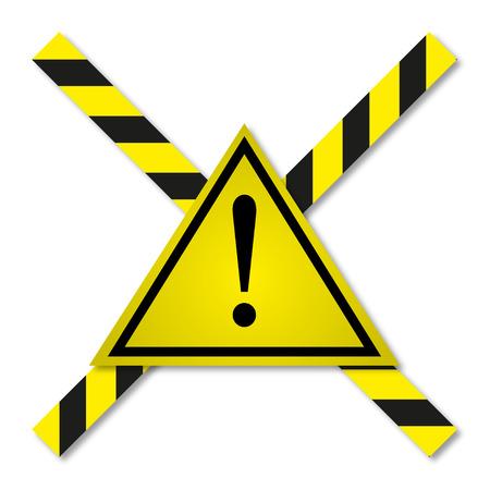 peligro: Cintas de peligro en amarillo-negro línea Vectores