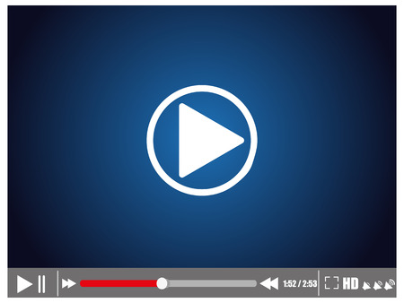 windows media video: Video player vector illustration eps 10