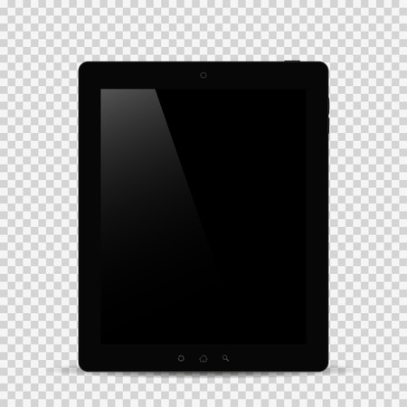 Tablet with shadow on isolated background Illustration