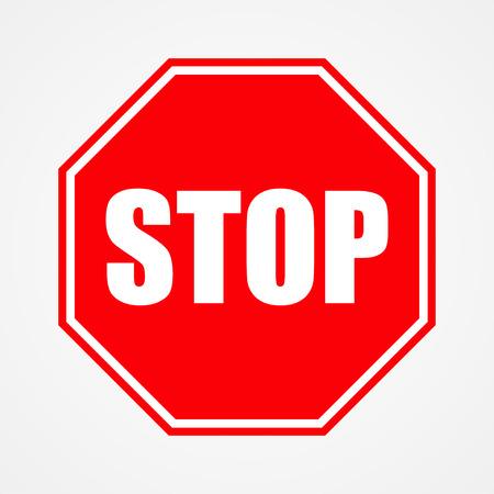 Sign stop red vector illustration Ilustracja
