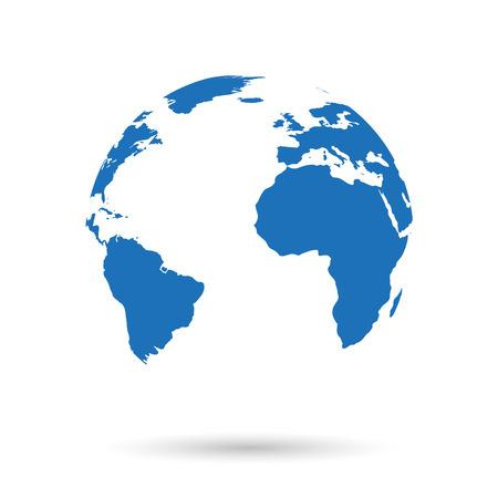 wereldbol: Bolpictogram Stock Illustratie