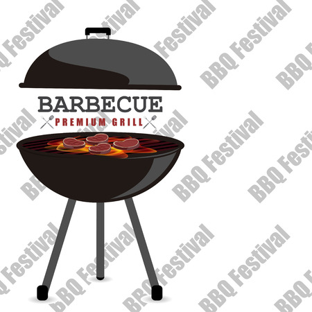 festival vector: BBQ Festival vector illustration background Illustration