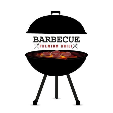 realistically: Barbecue vector illustration