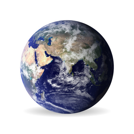 realistically: earth with shadow