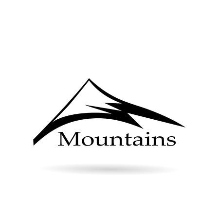 logo mountains abstract Illustration