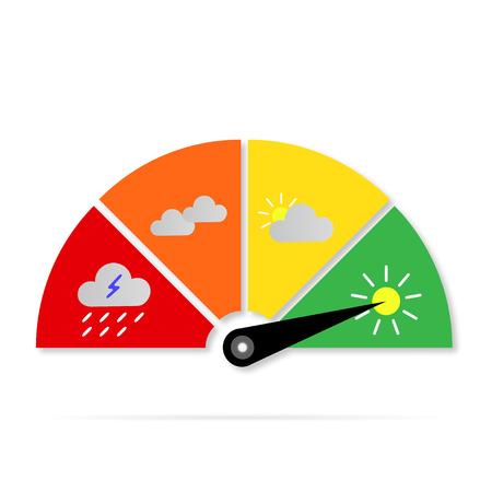 pluviometro: tiempo Iconos calibre signo Vectores