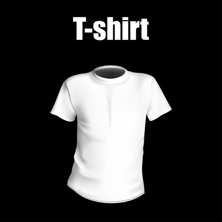 white shirt: T-shirt with black background