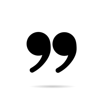 speech marks: Quote marks icon with shadow Illustration