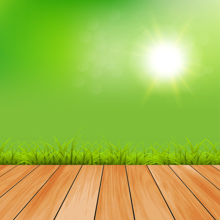 Grass and sky: Green Background With Green Grass