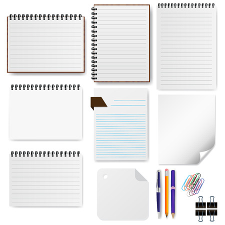stationery set: Stationery Set Paper Illustration