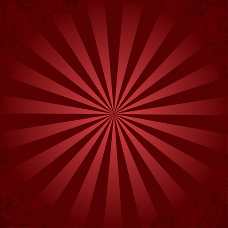 Red retro ray background Ilustracja