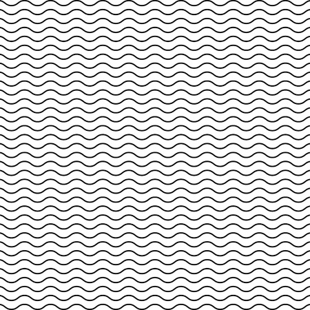 Black seamless wavy line pattern Vettoriali