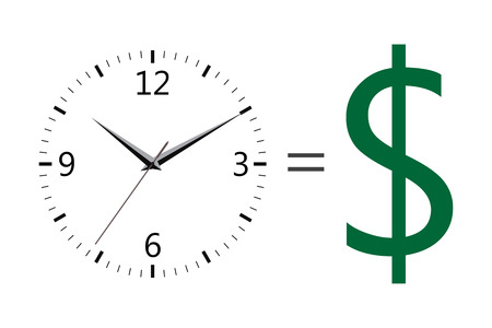 money icons: time is money icons