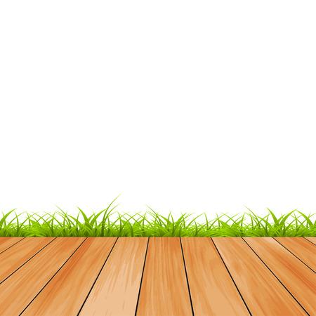 wood creeper: Blackboard with grass background