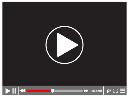 website window: Video media player Illustration