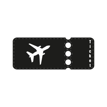 plane tickets: plane tickets flat Illustration