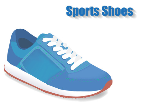 sport shoes: Sport shoes on white background