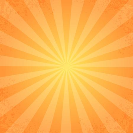 retro rays orange Vectores