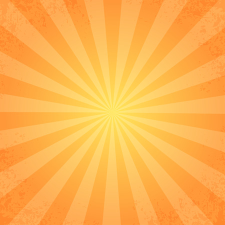 sunbeam: retro rays orange Illustration