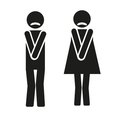 restroom sign: funny wc symbols