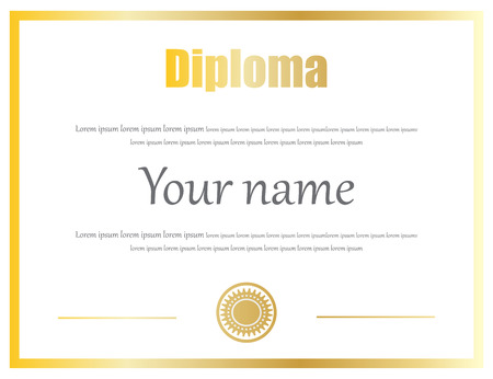 completion: Certificate, Diploma of completion vector template